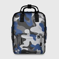 Рюкзак женский Зимний камуфляж цвета 3D-принт — фото 1