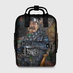 Рюкзак женский Сталин военный цвета 3D-принт — фото 1