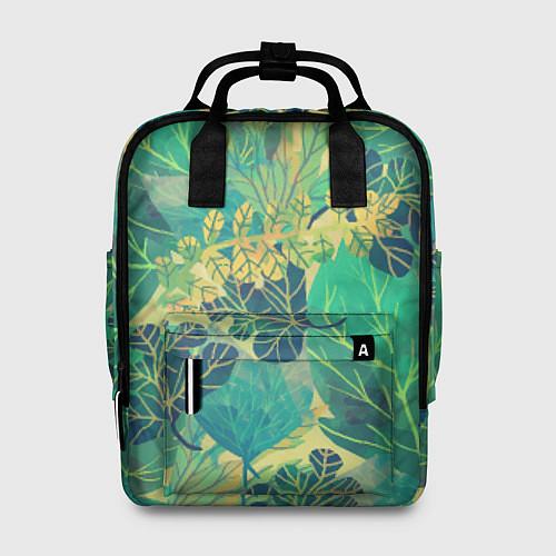 Женский рюкзак Узор из листьев / 3D – фото 1