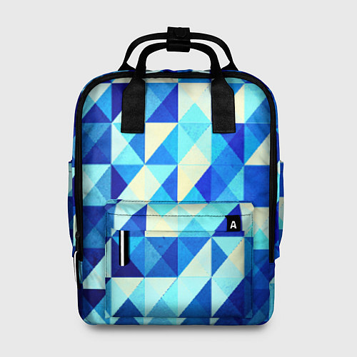 Женский рюкзак Синяя геометрия / 3D – фото 1