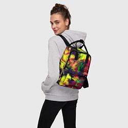 Рюкзак женский Кислотный взрыв цвета 3D — фото 2