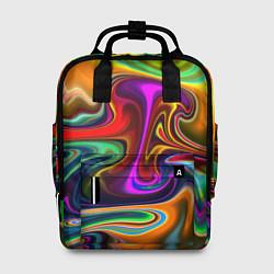 Рюкзак женский Неоновые разводы цвета 3D — фото 1