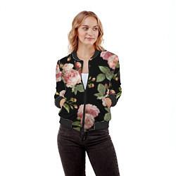 Бомбер женский TOP Roses цвета 3D-черный — фото 2