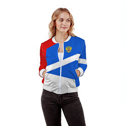 Бомбер женский Russia: Light Sport цвета 3D-белый — фото 2