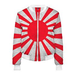 Бомбер женский Япония цвета 3D-белый — фото 1