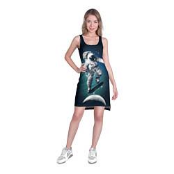 Туника женская Космический скейтбординг цвета 3D — фото 2