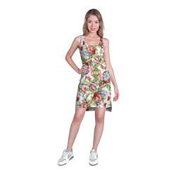Туника женская Цветы цвета 3D-принт — фото 2