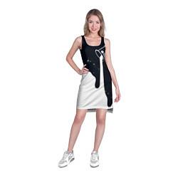 Туника женская Черно-белый цвета 3D-принт — фото 2