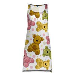 Туника женская Любимые медвежата цвета 3D-принт — фото 1