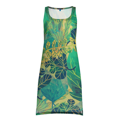 Женская туника Узор из листьев / 3D – фото 1