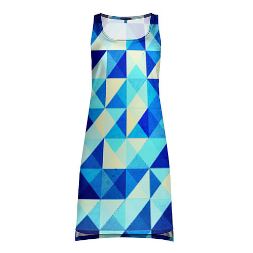 Женская туника Синяя геометрия / 3D – фото 1