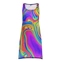 Туника женская Цветные разводы цвета 3D — фото 1