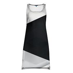 Туника женская Чёрно-белый цвета 3D — фото 1