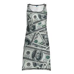 Туника женская Банкноты цвета 3D — фото 1