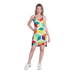 Туника женская 3D кубы цвета 3D — фото 2