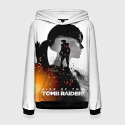 Толстовка-худи женская Rise of the Tomb Raider 1 цвета 3D-черный — фото 1