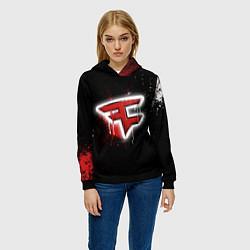 Толстовка-худи женская FaZe Clan: Black collection цвета 3D-черный — фото 2