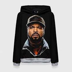 Толстовка-худи женская Ice Cube цвета 3D-меланж — фото 1