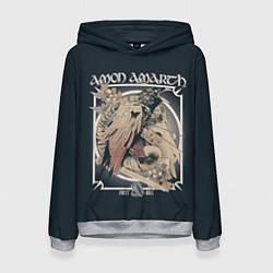 Толстовка-худи женская Amon Amarth: Raven цвета 3D-меланж — фото 1
