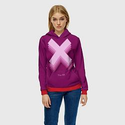 Толстовка-худи женская The XX: Purple цвета 3D-красный — фото 2
