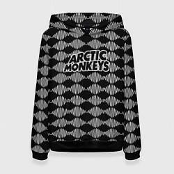 Толстовка-худи женская Arctic Monkeys: Black style цвета 3D-черный — фото 1