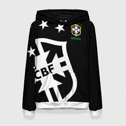 Толстовка-худи женская Brazil Team: Exclusive цвета 3D-белый — фото 1