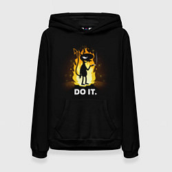 Толстовка-худи женская Disenchantment: Do it цвета 3D-черный — фото 1