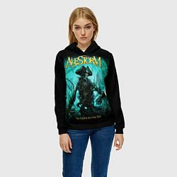 Толстовка-худи женская Alestorm: Death Pirate цвета 3D-черный — фото 2