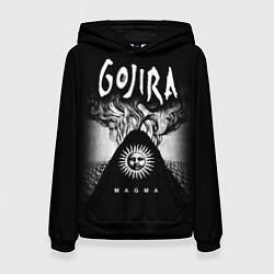 Толстовка-худи женская Gojira: Magma цвета 3D-черный — фото 1