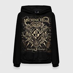 Толстовка-худи женская Machine Head цвета 3D-черный — фото 1