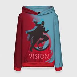 Толстовка-худи женская Vision Duo цвета 3D-красный — фото 1