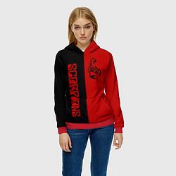 Толстовка-худи женская SCORPIONS цвета 3D-красный — фото 2