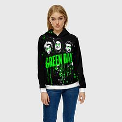 Толстовка-худи женская Green Day: Acid Colour цвета 3D-белый — фото 2