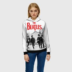 Толстовка-худи женская The Beatles: Break цвета 3D-черный — фото 2