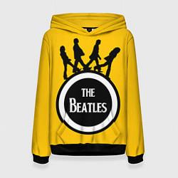 Толстовка-худи женская The Beatles: Yellow Vinyl цвета 3D-черный — фото 1