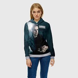 Толстовка-худи женская Armin Van Buuren цвета 3D-меланж — фото 2