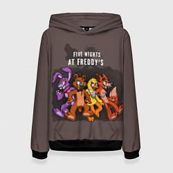 Толстовка-худи женская Five Nights At Freddy's цвета 3D-черный — фото 1