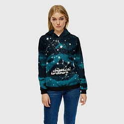 Толстовка-худи женская Chemical Brothers: Space цвета 3D-черный — фото 2