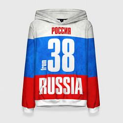 Толстовка-худи женская Russia: from 38 цвета 3D-белый — фото 1