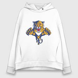 Толстовка оверсайз женская Florida Panthers цвета белый — фото 1