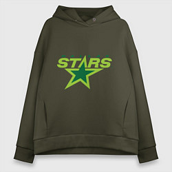 Толстовка оверсайз женская Dallas Stars цвета хаки — фото 1