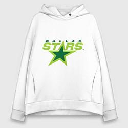 Толстовка оверсайз женская Dallas Stars цвета белый — фото 1