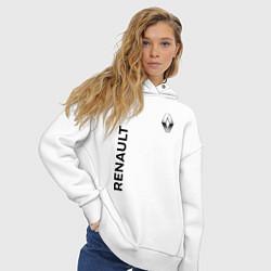 Толстовка оверсайз женская Renault Style цвета белый — фото 2