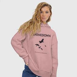 Толстовка оверсайз женская Shinedown: Sound of Madness цвета пыльно-розовый — фото 2