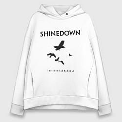 Толстовка оверсайз женская Shinedown: Sound of Madness цвета белый — фото 1
