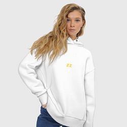 Толстовка оверсайз женская Brazzers: Sexy Style цвета белый — фото 2