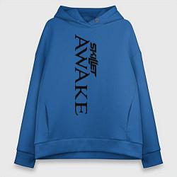 Толстовка оверсайз женская Skillet Awake цвета синий — фото 1