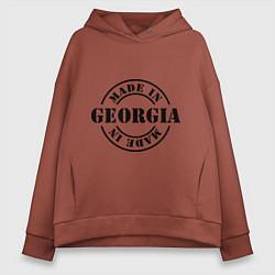 Толстовка оверсайз женская Made in Georgia (сделано в Грузии) цвета кирпичный — фото 1