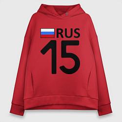 Толстовка оверсайз женская RUS 15 цвета красный — фото 1