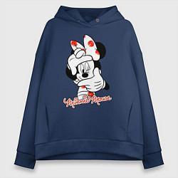 Толстовка оверсайз женская Minnie Mouse цвета тёмно-синий — фото 1